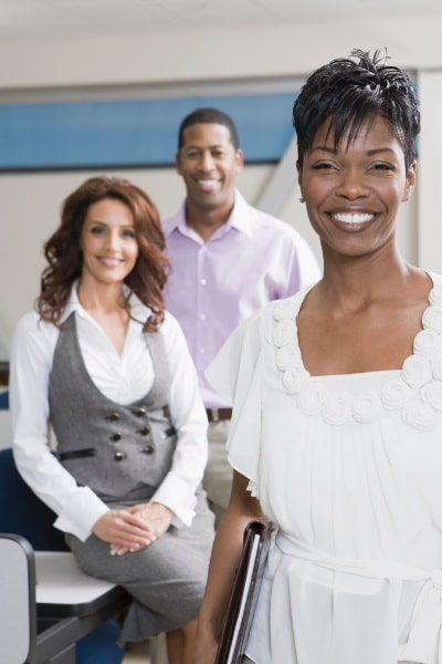 picture of an African american woman, a Caucasian woman, and an African american man